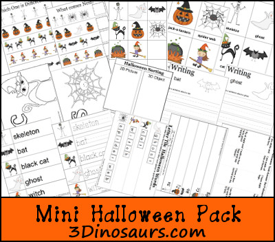 Free Mini Halloween Pack Update! - 3Dinosaurs.com