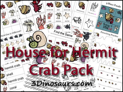 House for Hermit Crab Printables