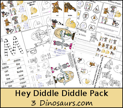 Free Hey Diddle Diddle - 3Dinosaurs.com