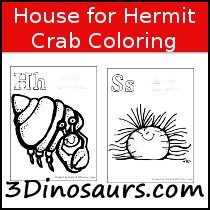 House for Hermit Crab Coloring - 3Dinosaurs.com