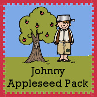 Free Johnny Apple Seed Pack - over 75 pages of activities - 3Dinosaurs.com