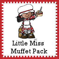 Free Little Miss Muffet Pack - over 50 pages of activities to go with the nursery rhyme - 3Dinosaurs.com