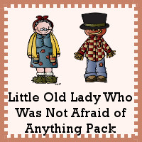 Free Little Old Lady Who Was Not Afraid of Anything Pack - over 70 pages of activities - 3Dinosaurs.com