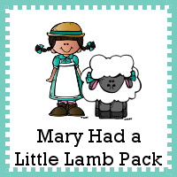 Mary Had A Little Lamb Printables