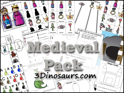 Medieval Pack from 3Dinosaurs.com