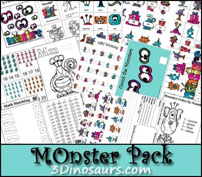 Monster Pack - 3Dinosaurs.com