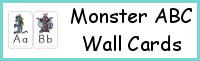 Monster ABC Wall Cards