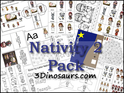Nativity Pack - 3Dinosaurs.com