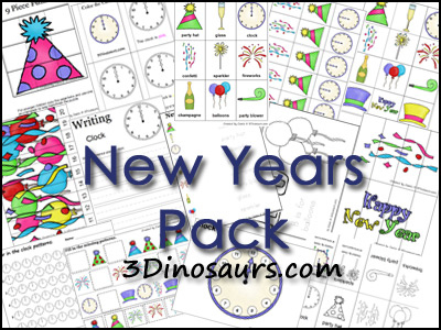 newyears pack FREE:  New Years Printable Homeschool Pack