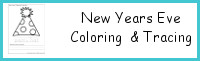 New Years Coloring Print & Cursive