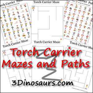 Torch Paths and Mazes