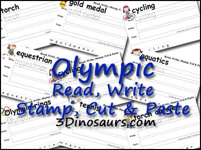 Olympic Pack Extra: Read, Write, Stamp, Cut & Paste