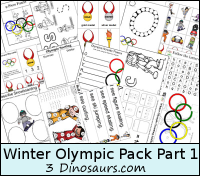 Free Winter Olympics Pack Part 1! - 3Dinosaurs.com