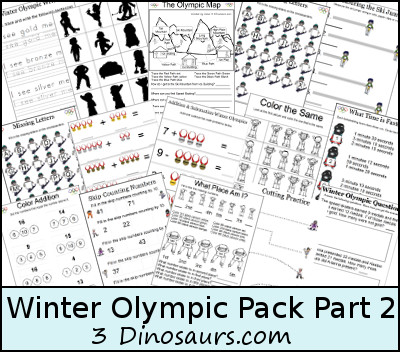 Free Winter Olympics Pack 2 - 3Dinosaurs.com