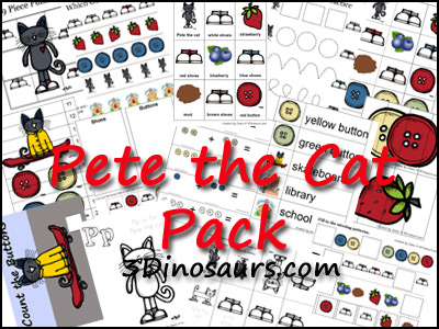 Free Pete The Cat Pack 3 Dinosaurs