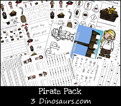 Pirate Pack over 80 pages by 3Dinosaurs.com