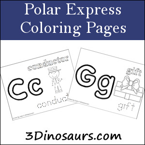 >Polar Express Coloring Pages