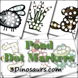 Free Pond Dot Marker Pages