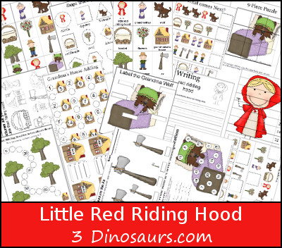 Free Little Red Riding Hood Pack - 3Dinosaurs.com