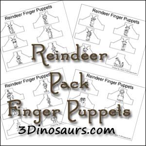 Reindeer Finger Puppets