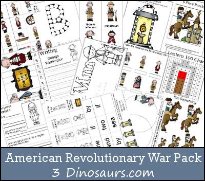 Free American Revolutionary War Pack - 3Dinosaurs.com