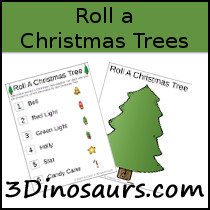 Free Roll a Christmas Tree - 3Dinosaurs.com