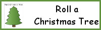 Roll a Christmas Tree Printable