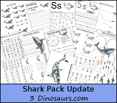 Free Shark Pack Update - 3Dinosaurs.com