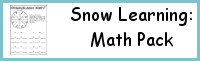 Snow Learning Pack: Math Activities