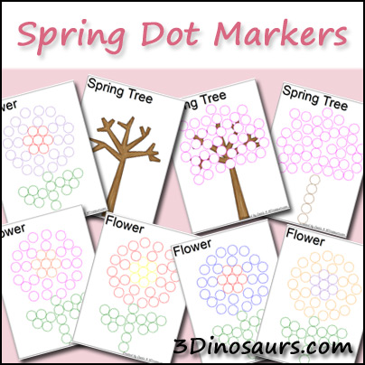 Spring Dot Marker Pages