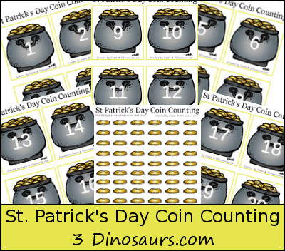 Free St Patrick's Day Coin Counting Printable