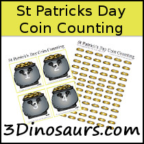 St Patrick's Day Coin Counting Printable