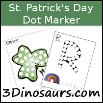 St Patrick's Day Dot Marker Printable