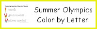 Summer Olympics Color by Letter