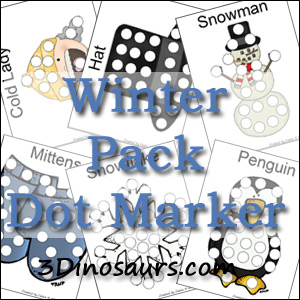 Winter Pack Dot Markers