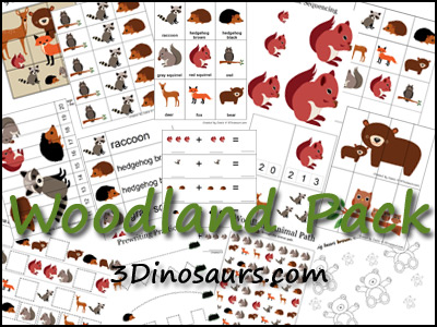 Woodlands Tot And PreK K Pack FREE Coloring Pages Forest Animal Graphing Printable Woodland From 3 Dinosaurs