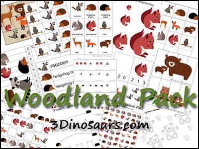 woodland animals crafts and free printables homeschool giveaways. Black Bedroom Furniture Sets. Home Design Ideas