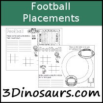 Football Themed Placemat Printables