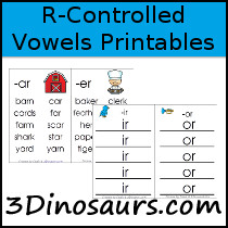 R-Controlled Vowels Printables