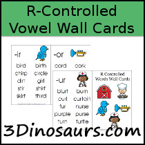 R-Controlled Vowel Wall Cards Printables