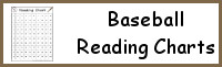 Baseball Themed Reading Charts