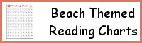 Beach Themed Reading Charts