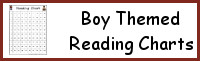 Boy Themed Reading Charts