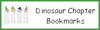 Dinosaur Chapter Bookmarks
