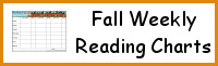 Fall Weekly Reading Charts