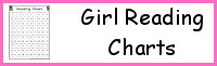 Girl Theme Reading Charts