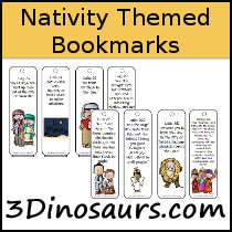 Nativity Themed Bookmarks - 3Dinosaurs.com