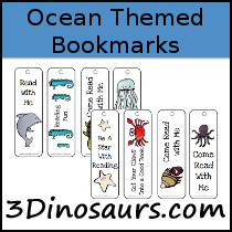 Ocean Themed Bookmarks - 3Dinosaurs.com