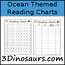 Ocean Theme Reading Charts