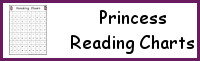Princess Themed Reading Charts